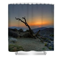 Keys View Sunset Shower Curtain