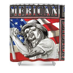 Kid Rock American Badass Shower Curtain