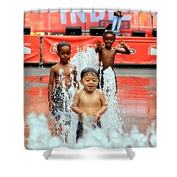 Kids Summer Fun Shower Curtain by Valentino Visentini
