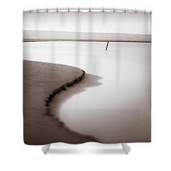 Kijkduin Beach Shower Curtain by Dave Bowman
