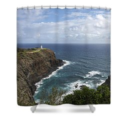 Kilauea Lighthouse - Kauai Hawaii Shower Curtain by Brian Harig