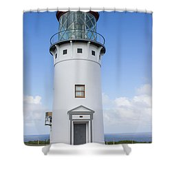 Shower Curtain featuring the photograph Kilauea Lighthouse by Suzanne Luft