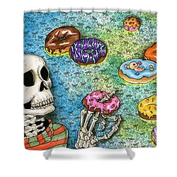killer Donuts Shower Curtain