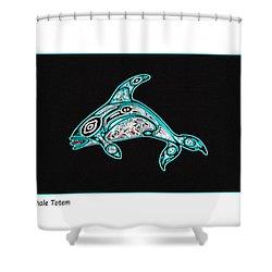 Killer Whale Totem Shower Curtain