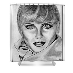 Kim Alexis In 1985 Shower Curtain by J McCombie