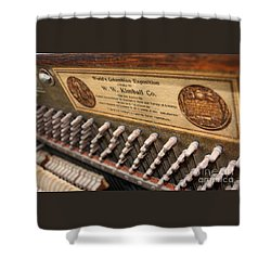 Kimball Piano-3476 Shower Curtain by Gary Gingrich Galleries