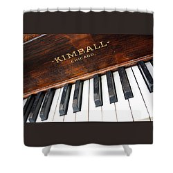 Kimball Piano-3479 Shower Curtain by Gary Gingrich Galleries