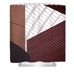 Kimmel Center Geometry Shower Curtain by Rona Black