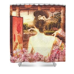Kimono Shower Curtain by Mo T