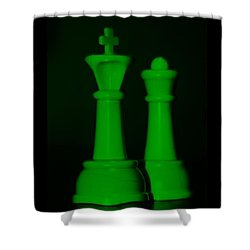 King And Queen In Green Shower Curtain by Rob Hans