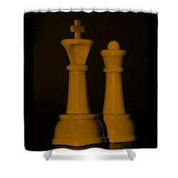 King And Queen In Orange Shower Curtain by Rob Hans
