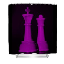 King And Queen In Pink Shower Curtain by Rob Hans