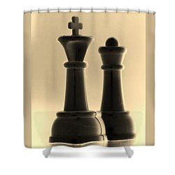 King And Queen In Sepia Shower Curtain by Rob Hans