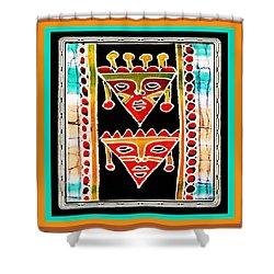 Shower Curtain featuring the digital art King And Queen by Vagabond Folk Art - Virginia Vivier