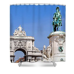 King And Triumph Shower Curtain by Jose Elias - Sofia Pereira