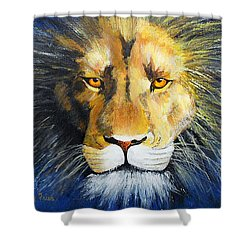 King Cat Shower Curtain by Jamie Frier