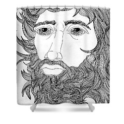 King David Shower Curtain by Fred Jinkins