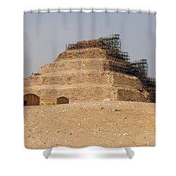 King Djoser The Great Of Saqqara Shower Curtain