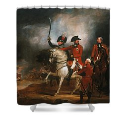 King George IIi And The Prince Of Wales Shower Curtain by Sir William Beechey