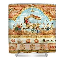 King In The Field Shower Curtain by Michoel Muchnik