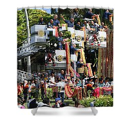 King Kamehameha Draped Shower Curtain