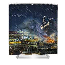 Shower Curtain featuring the photograph King Kong By Ford Field by Nicholas  Grunas