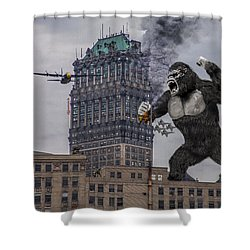 Shower Curtain featuring the photograph King Kong In Detroit At Wurlitzer by Nicholas  Grunas