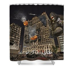 Shower Curtain featuring the photograph King Kong In Detroit Westin Hotel by Nicholas  Grunas