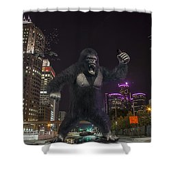 Shower Curtain featuring the photograph King Kong On Jefferson St In Detroit by Nicholas  Grunas