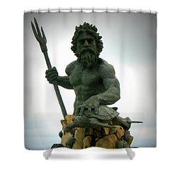 King Neptune Statue Shower Curtain