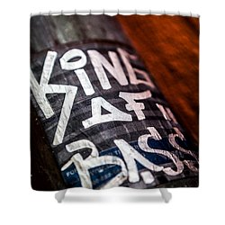 Shower Curtain featuring the photograph King Of Bass by Sennie Pierson