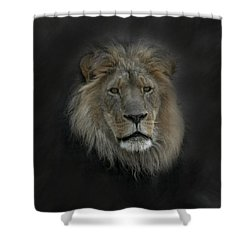King Of Beasts Portrait Shower Curtain