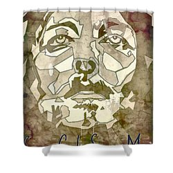 King Of Glory Shower Curtain by Michelle Greene Wheeler