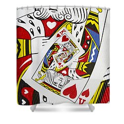King Of Hearts Collage Shower Curtain