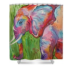 King Of The Elephants Shower Curtain