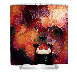 King Of The Jungle-featured In Comfortable Art-faa Gallery Artists Who Create And Wildlife Groups Shower Curtain by EricaMaxine  Price