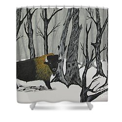 King Of The Woods Shower Curtain