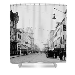 King Street In Charleston South Carolina Circa 1910 Shower Curtain