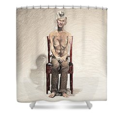 King Shower Curtain by Taylan Apukovska