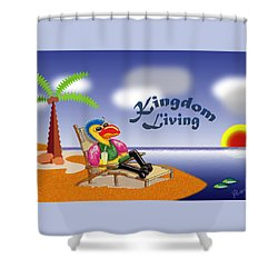 Kingdom Living Shower Curtain by Jerry Ruffin