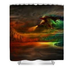 Kings Landing - Winter Is Coming Shower Curtain by Lilia D