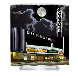 Kirk Douglas Theatre Shower Curtain by Chuck Staley