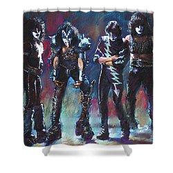 Kiss Shower Curtain by Viola El