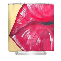 Kiss  Shower Curtain by Marisela Mungia