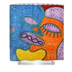 Kiss Shower Curtain by Patrick J Murphy