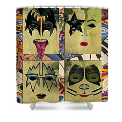 Kiss The Band Shower Curtain by Corporate Art Task Force