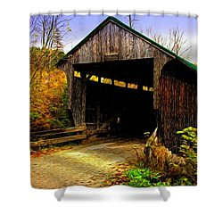 Kissing Bridge Shower Curtain by Bill Howard