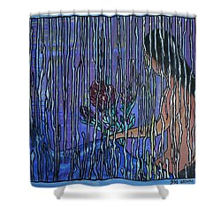 Kissing Rain Shower Curtain