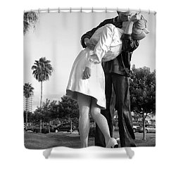 Kissing Sailor And Nurse Shower Curtain