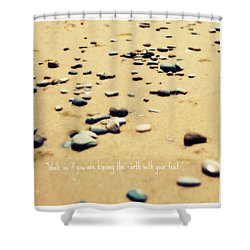 Kissing The Earth Shower Curtain by Poetry and Art